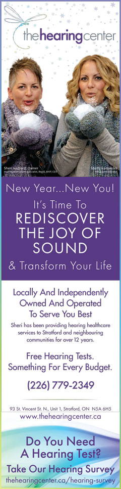 the hearing centre new year ad