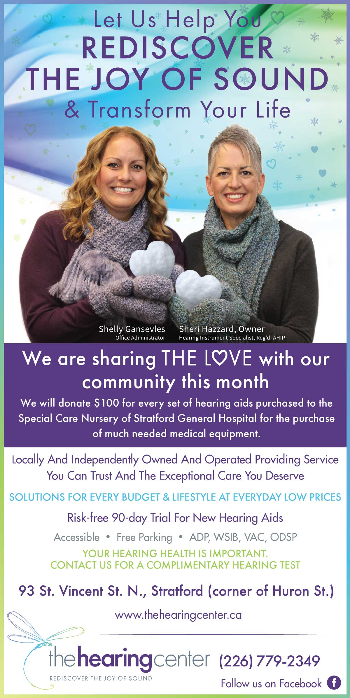 Donate $100 for every set of hearing aids purchases